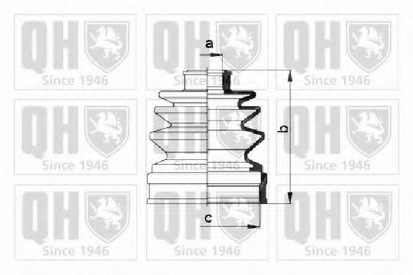 Комплект пылника, приводной вал QUINTON HAZELL QJB263