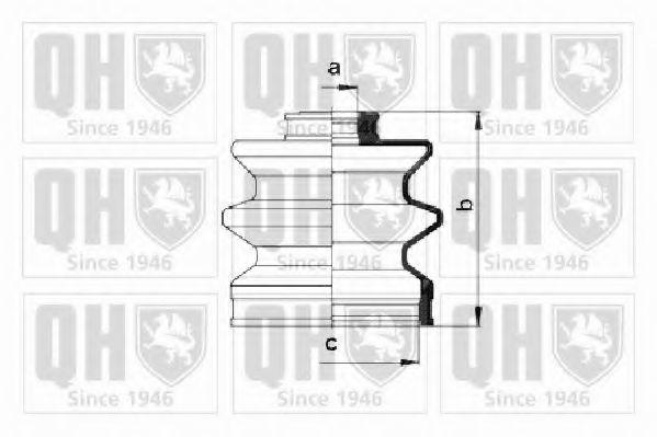Комплект пылника, приводной вал QUINTON HAZELL QJB2658