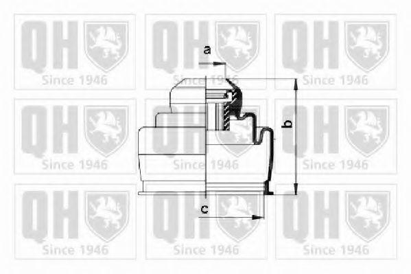 Комплект пылника, приводной вал QUINTON HAZELL QJB2661