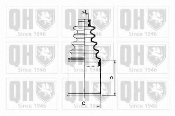 Комплект пылника, приводной вал QUINTON HAZELL QJB2666