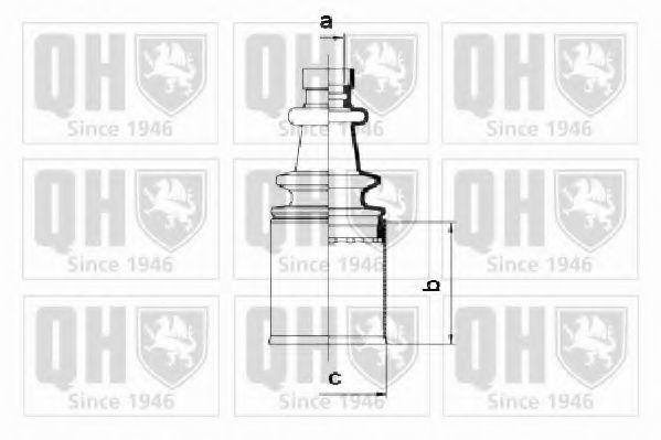 Комплект пылника, приводной вал QUINTON HAZELL QJB2676