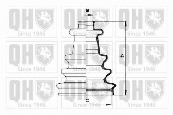 Комплект пылника, приводной вал QUINTON HAZELL QJB2695