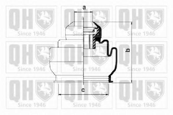 Комплект пылника, приводной вал QUINTON HAZELL QJB2711