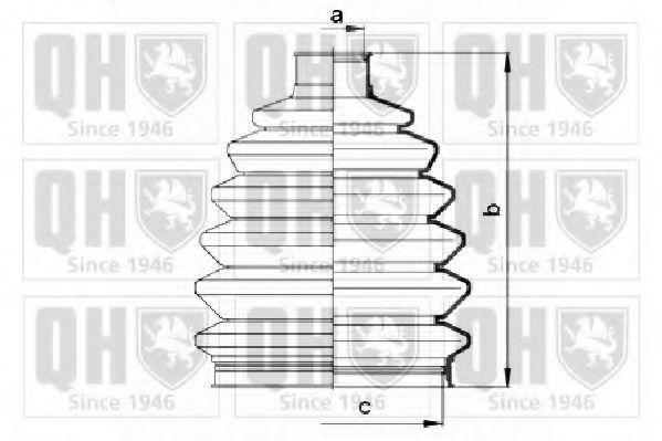 Комплект пылника, приводной вал QUINTON HAZELL QJB2715