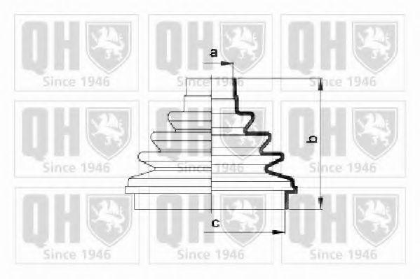 Комплект пылника, приводной вал QUINTON HAZELL QJB2722
