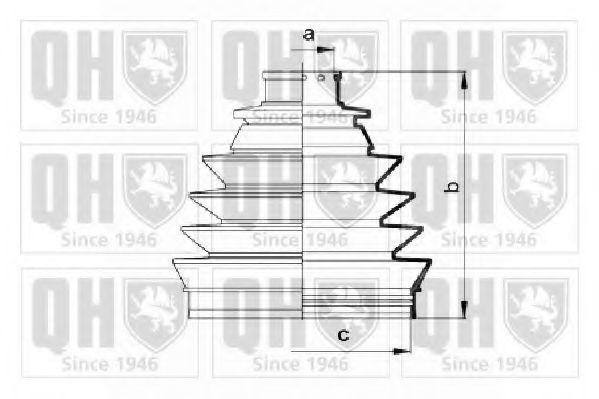 Комплект пылника, приводной вал QUINTON HAZELL QJB2741