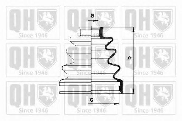 Комплект пылника, приводной вал QUINTON HAZELL QJB275