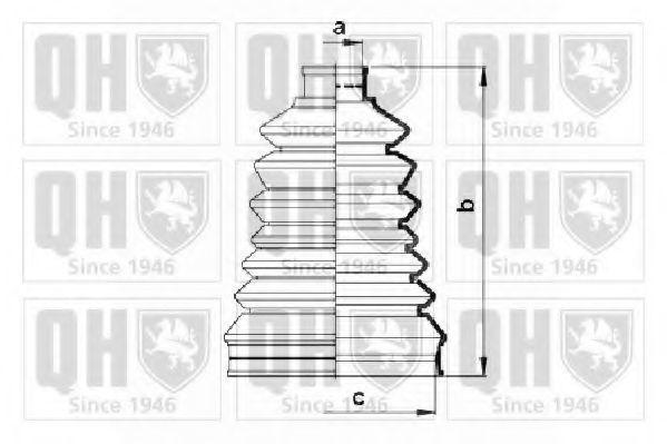 Комплект пылника, приводной вал QUINTON HAZELL QJB2750