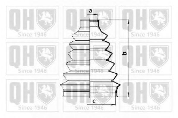 Комплект пылника, приводной вал QUINTON HAZELL QJB2757