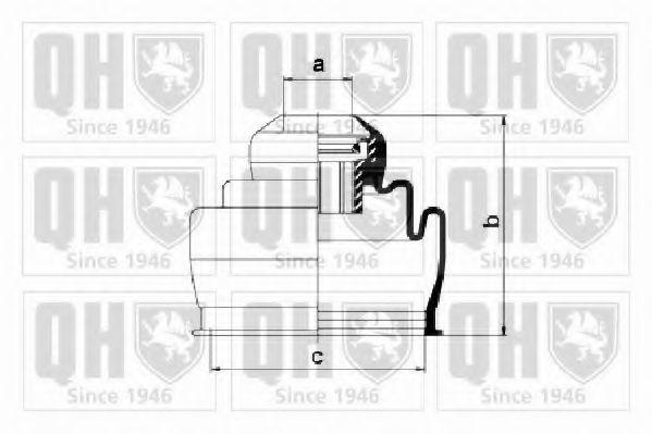 Комплект пылника, приводной вал QUINTON HAZELL QJB2780