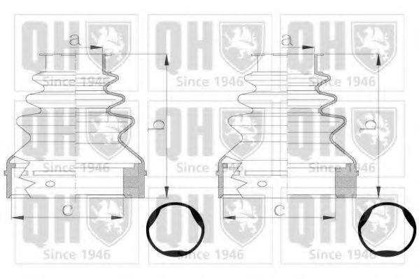 Комплект пылника, приводной вал QUINTON HAZELL QJB2793