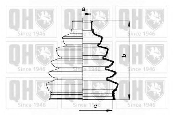 Комплект пылника, приводной вал QUINTON HAZELL QJB2808