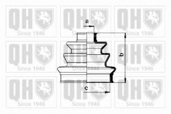 Комплект пылника, приводной вал QUINTON HAZELL QJB285