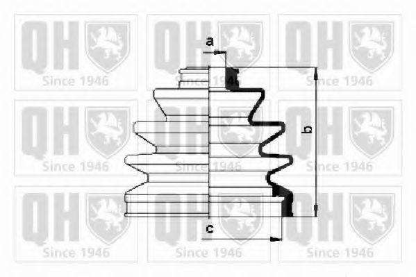Комплект пылника, приводной вал QUINTON HAZELL QJB288