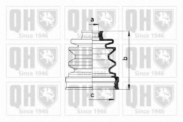 Комплект пылника, приводной вал QUINTON HAZELL QJB352