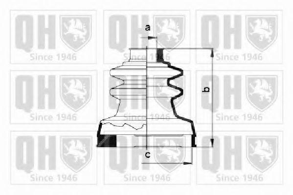 Комплект пылника, приводной вал QUINTON HAZELL QJB366