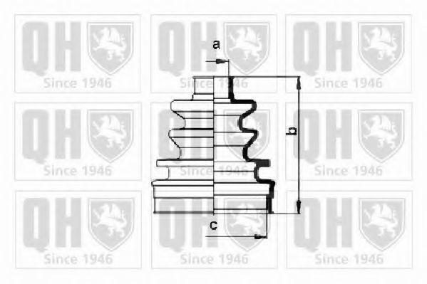 Комплект пылника, приводной вал QUINTON HAZELL QJB377