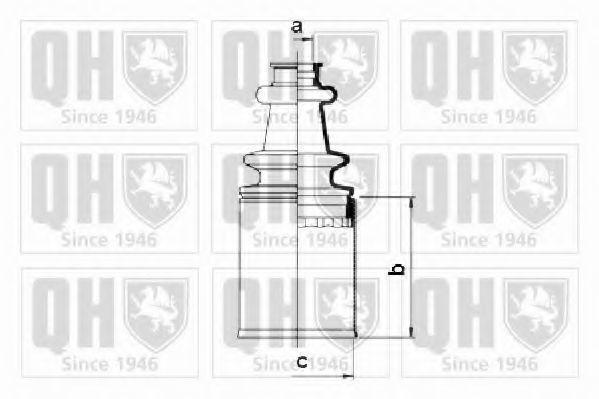 Комплект пылника, приводной вал QUINTON HAZELL QJB379