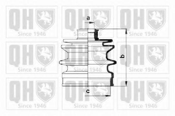 Комплект пылника, приводной вал QUINTON HAZELL QJB381
