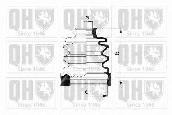 Комплект пылника, приводной вал QUINTON HAZELL QJB401