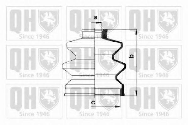 Комплект пылника, приводной вал QUINTON HAZELL QJB423