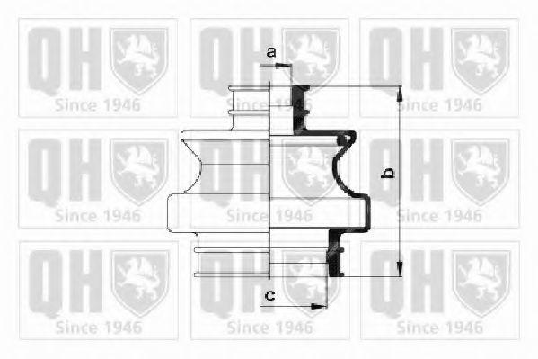 Комплект пылника, приводной вал QUINTON HAZELL QJB459