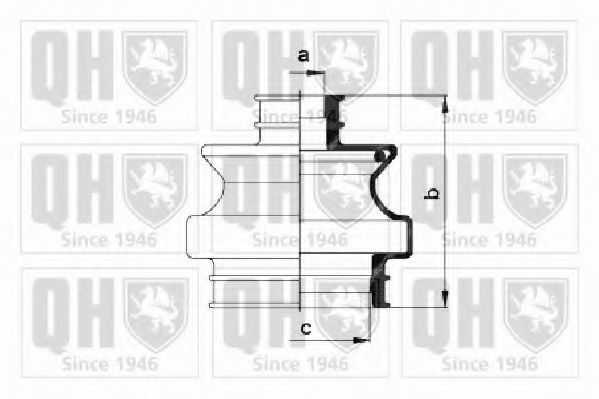 Комплект пылника, приводной вал QUINTON HAZELL QJB460
