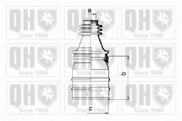 Комплект пылника, приводной вал QUINTON HAZELL QJB472