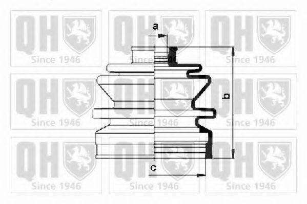 Комплект пылника, приводной вал QUINTON HAZELL QJB496