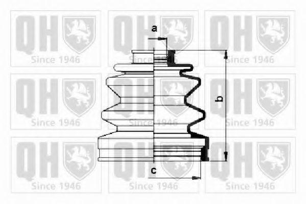 Комплект пылника, приводной вал QUINTON HAZELL QJB532