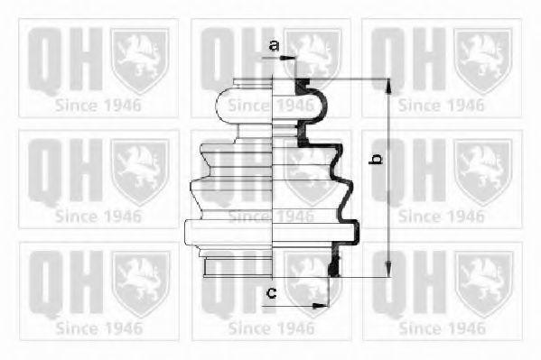 Комплект пылника, приводной вал QUINTON HAZELL QJB547