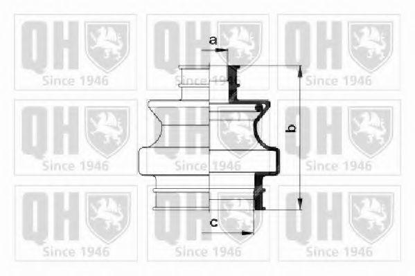 Комплект пылника, приводной вал QUINTON HAZELL QJB548