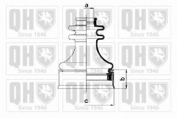 Комплект пылника, приводной вал QUINTON HAZELL QJB568