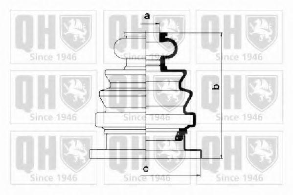 Комплект пылника, приводной вал QUINTON HAZELL QJB586