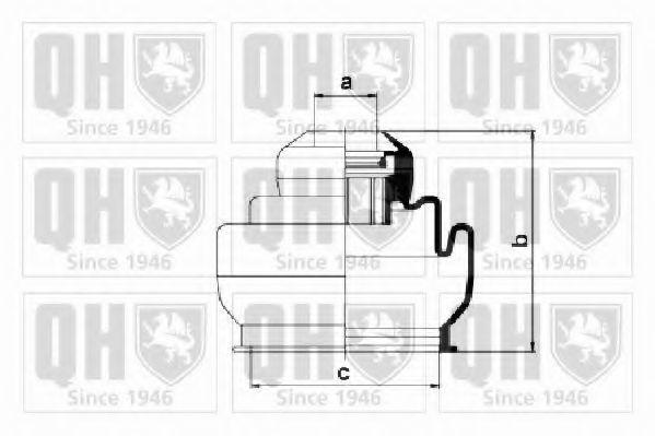 Комплект пылника, приводной вал QUINTON HAZELL QJB604
