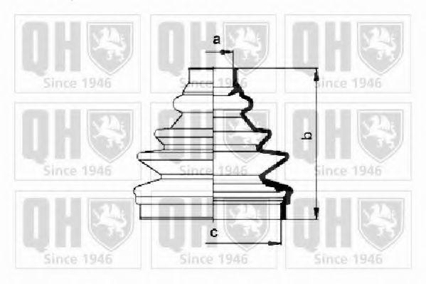 Комплект пылника, приводной вал QUINTON HAZELL QJB618