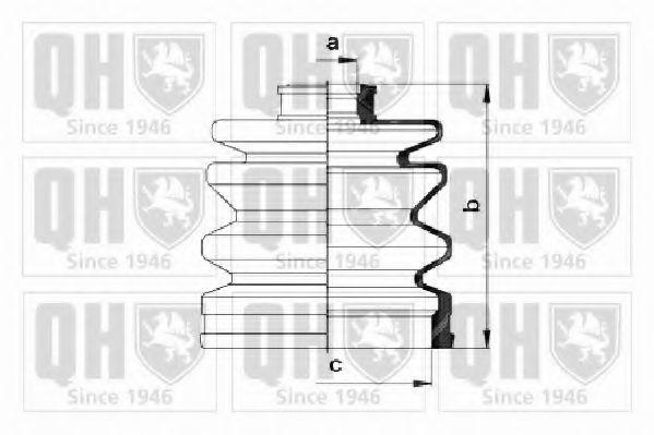 Комплект пылника, приводной вал QUINTON HAZELL QJB619