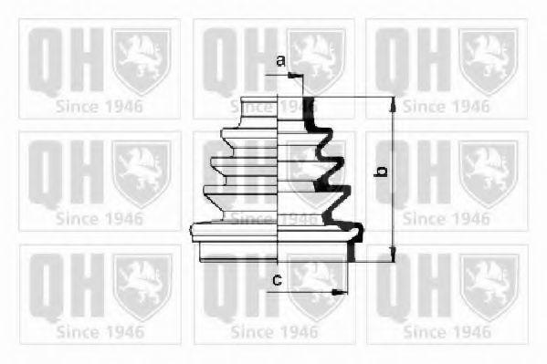 Комплект пылника, приводной вал QUINTON HAZELL QJB630
