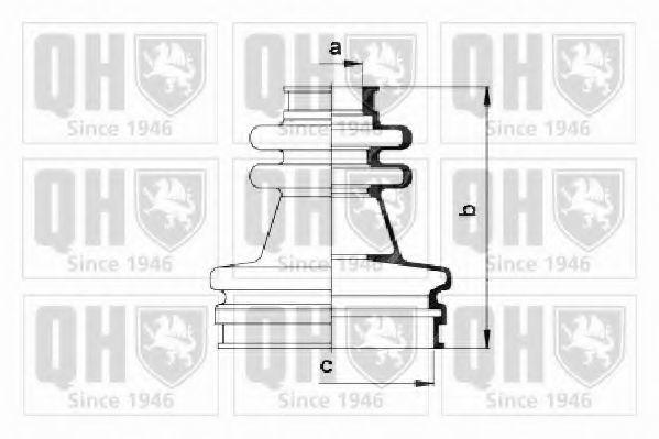 Комплект пылника, приводной вал QUINTON HAZELL QJB633
