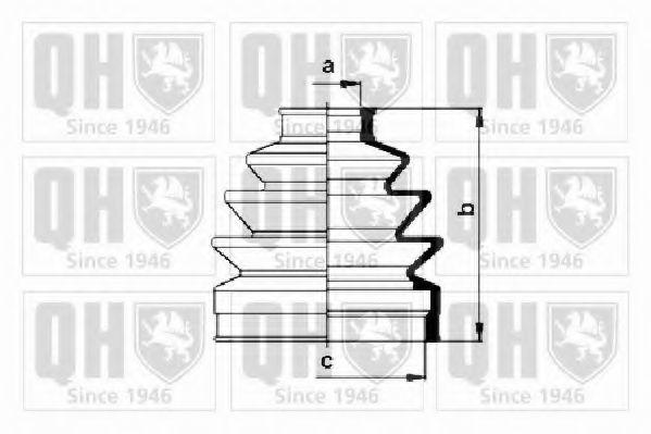 Комплект пылника, приводной вал QUINTON HAZELL QJB639