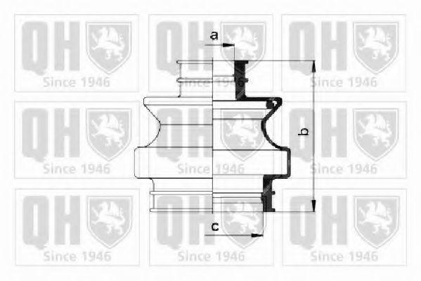 Комплект пылника, приводной вал QUINTON HAZELL QJB658