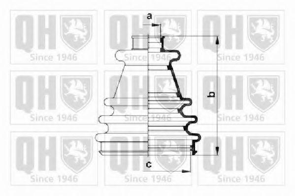 Комплект пылника, приводной вал QUINTON HAZELL QJB682