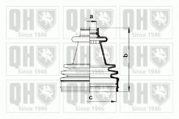 Комплект пылника, приводной вал QUINTON HAZELL QJB748
