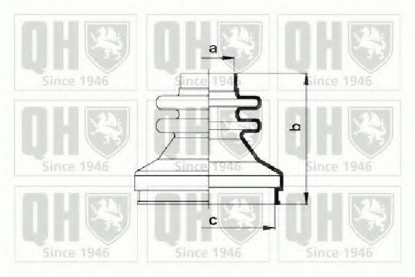 Комплект пылника, приводной вал QUINTON HAZELL QJB789