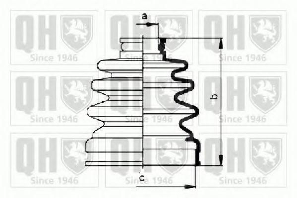 Комплект пылника, приводной вал QUINTON HAZELL QJB793