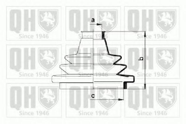 Комплект пылника, приводной вал QUINTON HAZELL QJB830