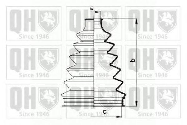Комплект пылника, приводной вал QUINTON HAZELL QJB863
