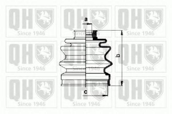 Комплект пылника, приводной вал QUINTON HAZELL QJB864
