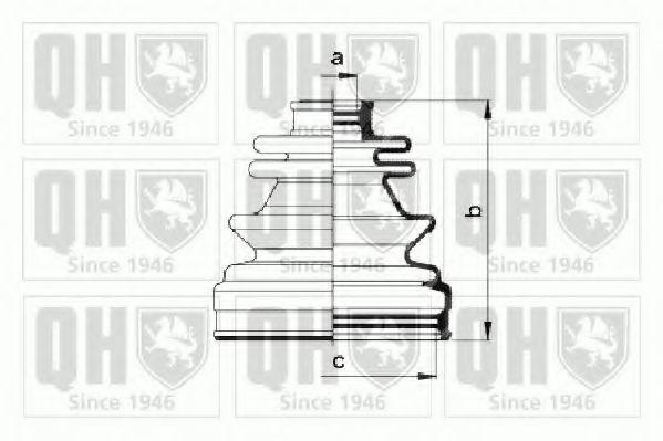 Комплект пылника, приводной вал QUINTON HAZELL QJB933