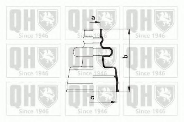 Комплект пылника, приводной вал QUINTON HAZELL QJB953